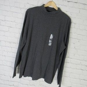 Karen Scott Shirt Top Womens 1X Gray Long Sleeves